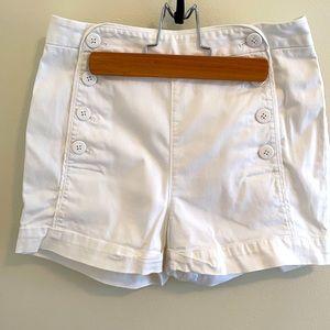 Aritzia Talula White Starboard Shorts Size 4
